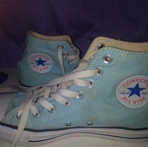 High top baby blue Converse